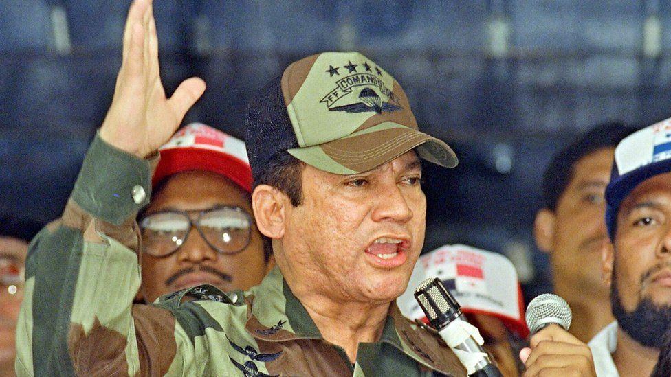 Former Panamanian leader Manuel Noriega