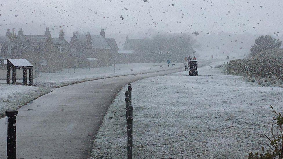 Snow in Nairn
