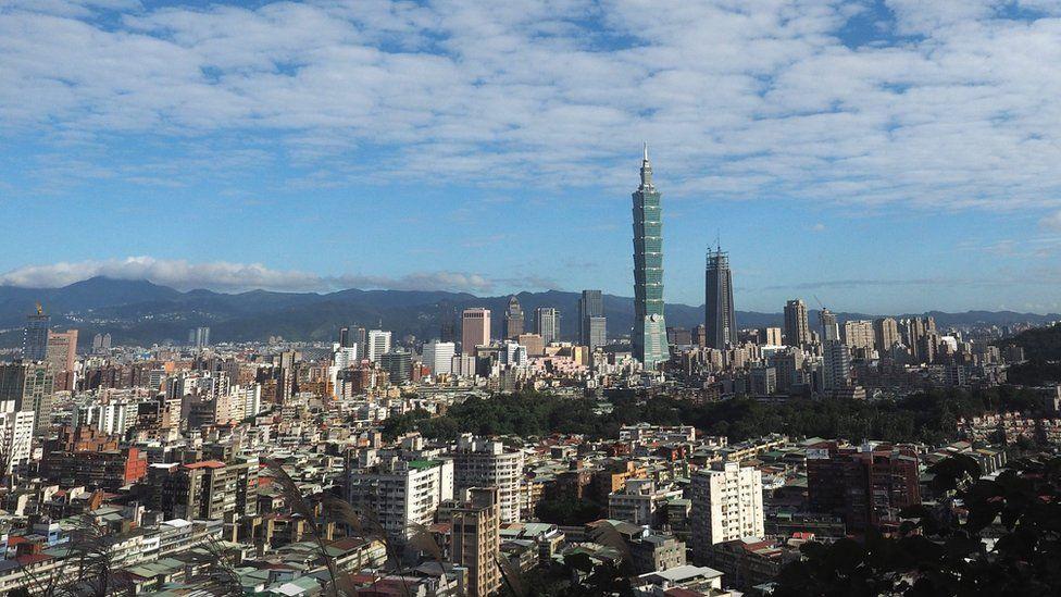 Skyline of Taipei, Taiwan
