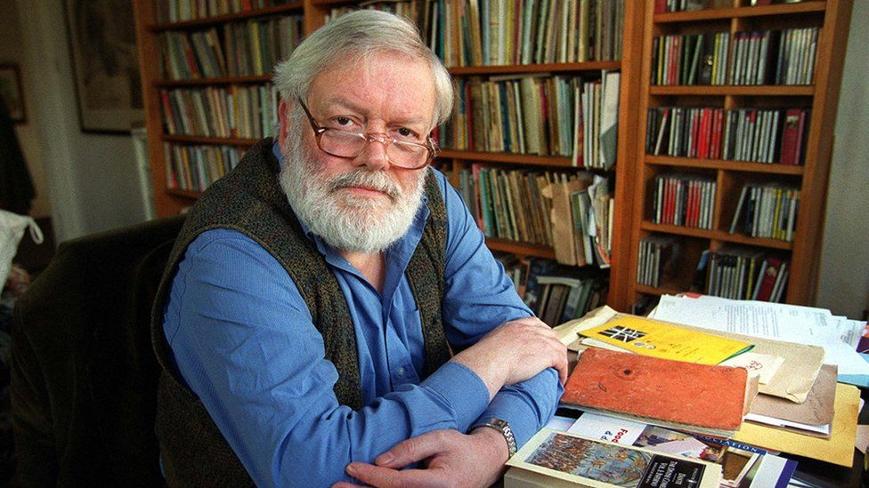Michael Longley photographed in his Belfast home in March 2000