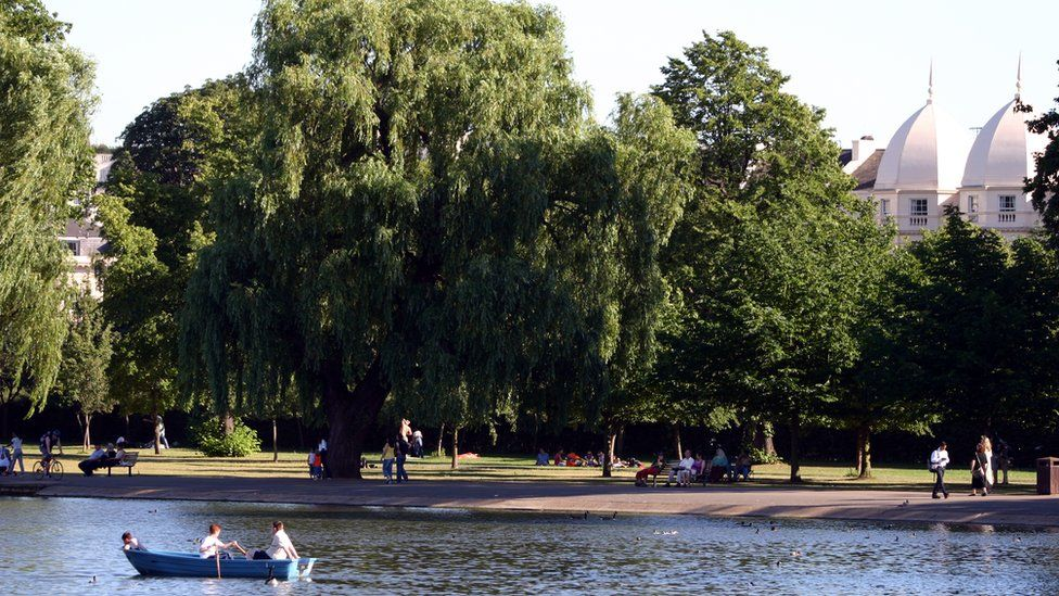 Boating lake in Regent's Park