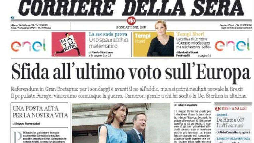 Italy's Corriere della Sera