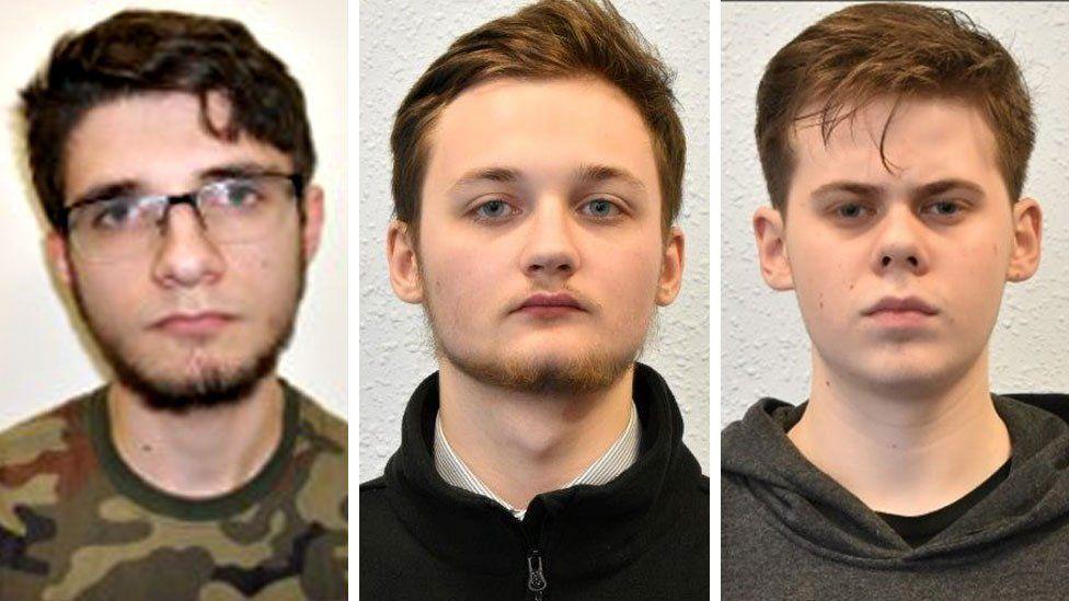 Teens Jacek Tchorzewski, Michal Szewczuk and Oskar Dunn-Koczorowski
