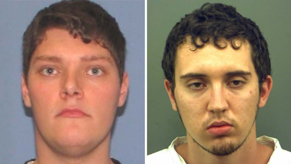 Composite image of Connor Betts and Patrick Crusius