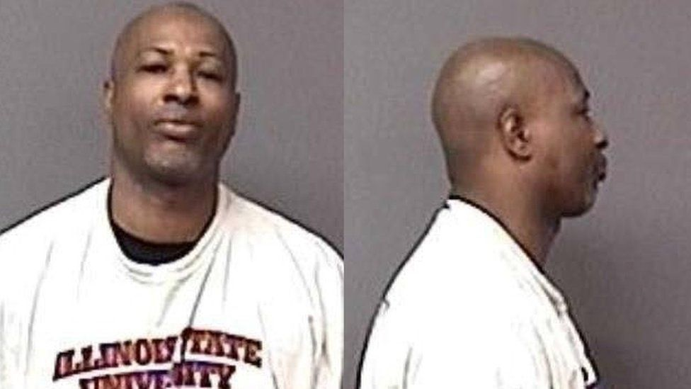 Gary Martin is pictured in Oswego, Illinois, in an undated handout booking photo obtained by Reuters