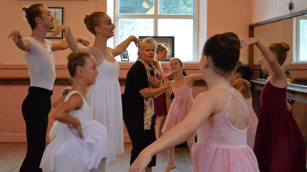 Dance rehearsal at Skelton Hooper