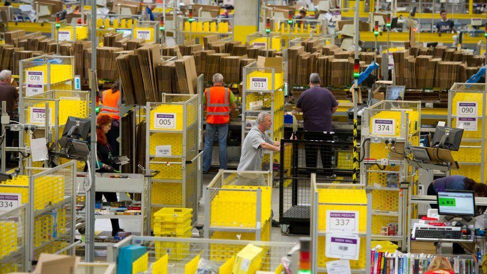 Amazon warehouse in Swansea