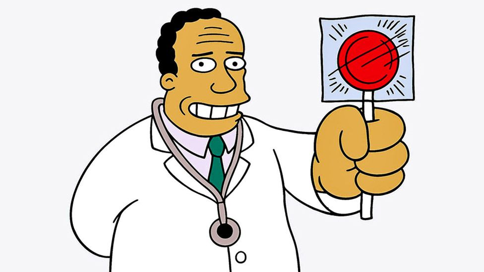 Dr Hibbert in The Simpsons