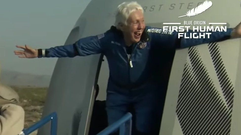 Wally Funk, 82, joins Bezos space flight thumbnail