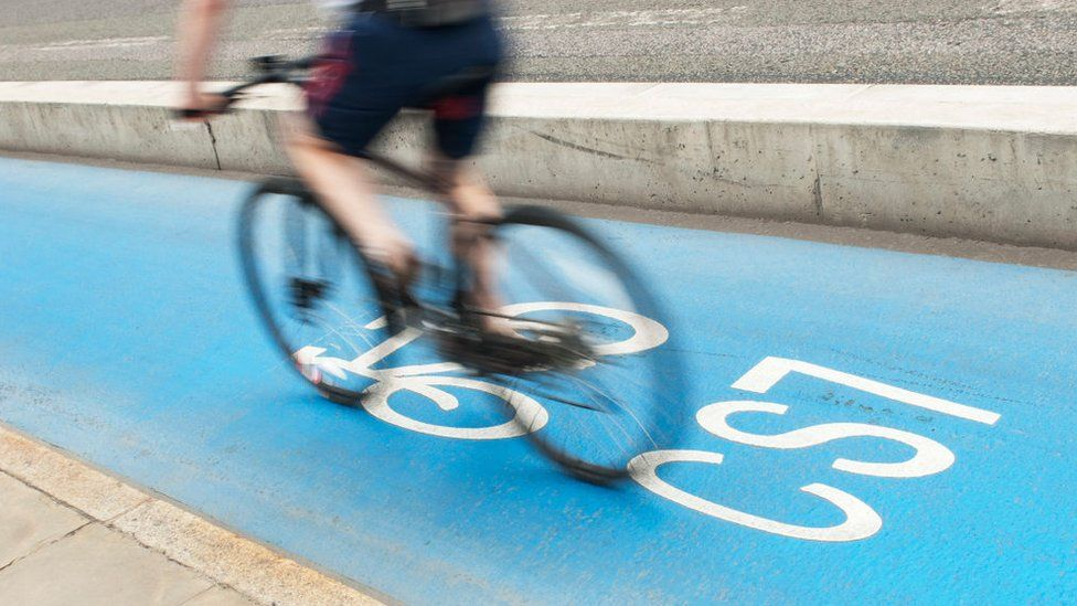 London cycle superhighway (file pic)