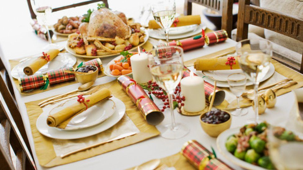 The table at Christmas