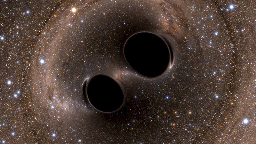 Artist's impression of black holes