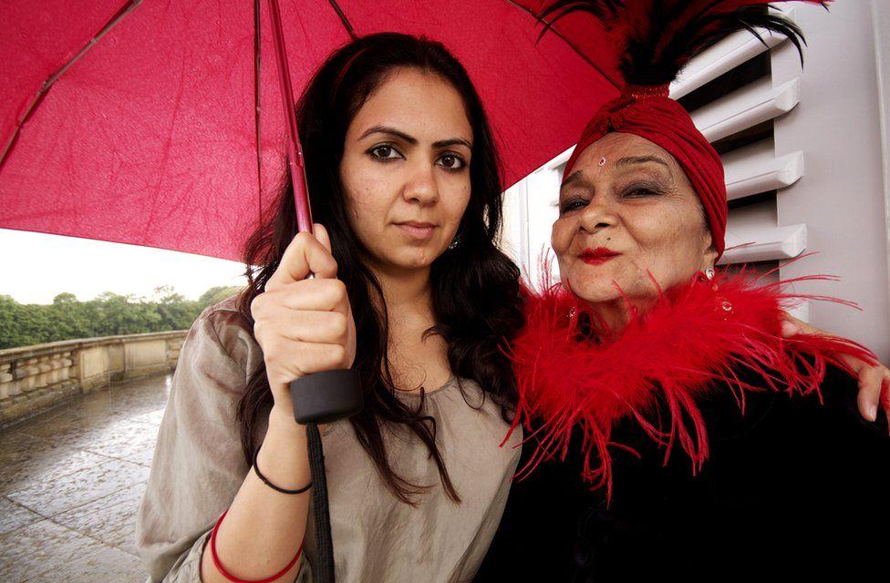 Grandmother Indri with Jasmeen Patheja