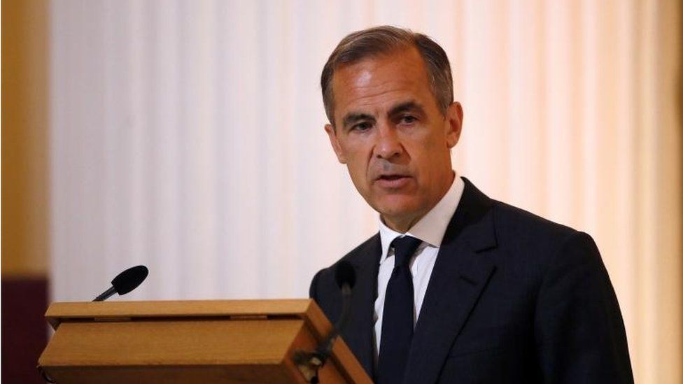 Mark Carney delivers his speech at The Mansion House