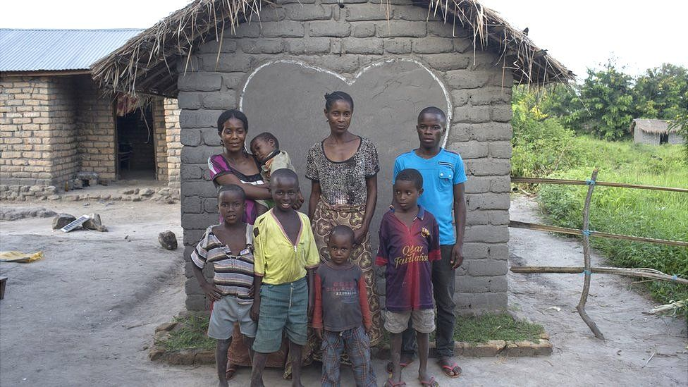 Bawili is a widow and mother to this family who benefitted from Toilet Twinning in Democratic Republic of Congo