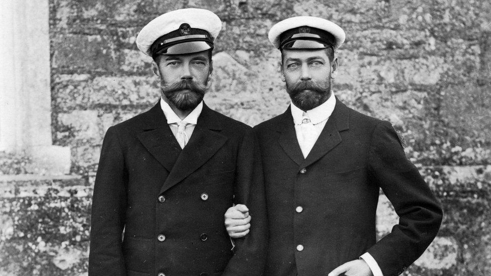 Tsar Nicholas II and King George V