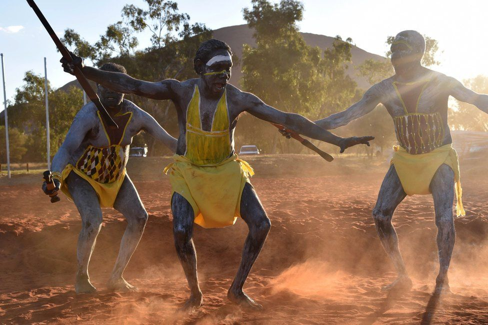 Dancers from East Arnhem Land at the summit's opening ceremony