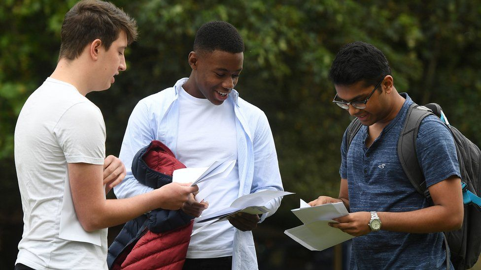 Students receive their exam results