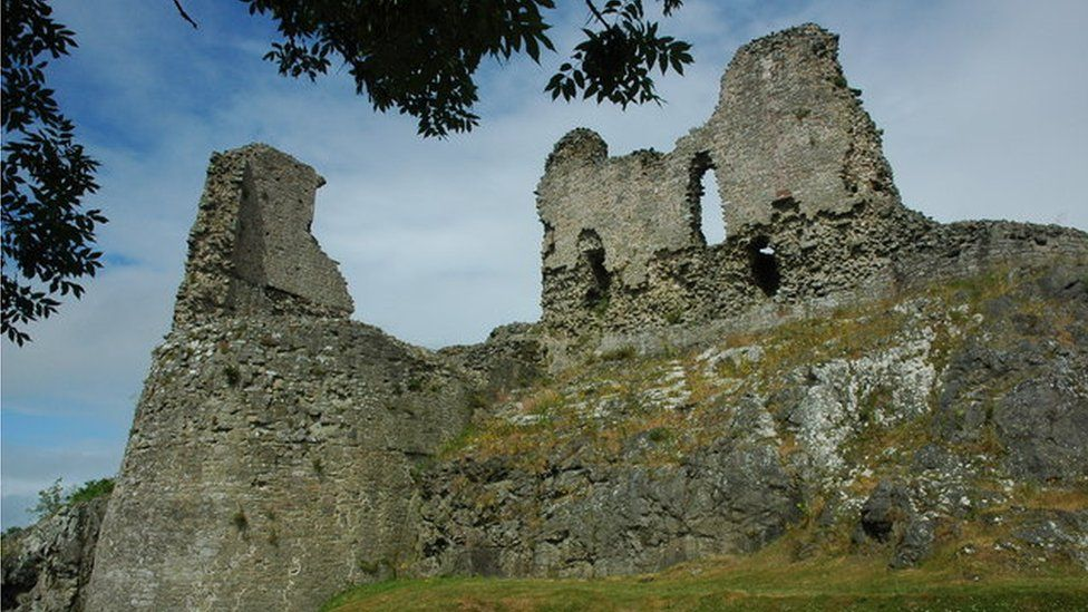 The ruins of Montgomery Castle