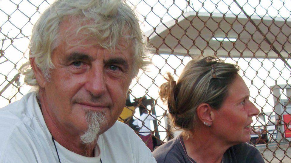 Jurgen Kantner and his wife Sabine Merz pictured in Somalia in 2009