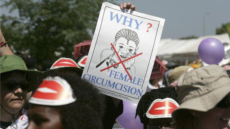 Members of African gay and lesbian communities demonstrate against female genital mutilation in Nairobi in 2007