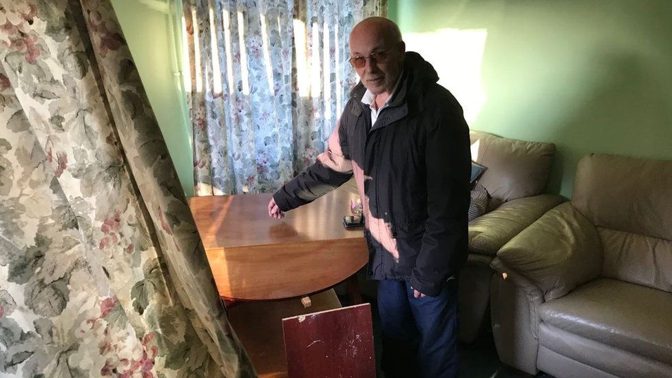 Stan Miller in his living room
