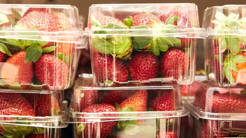 Strawberry punnets at a supermarket in Sydney, Australia (September 2018)