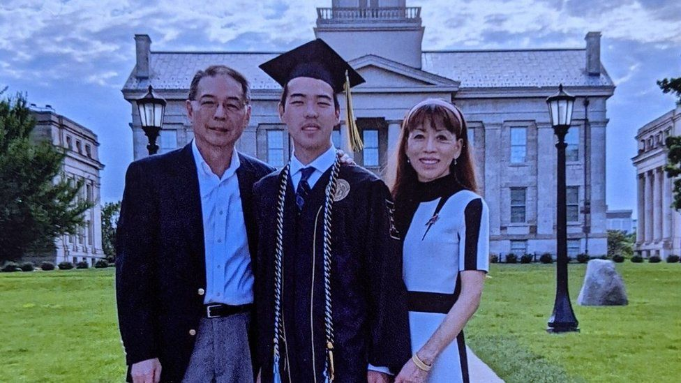 Austin and his parents
