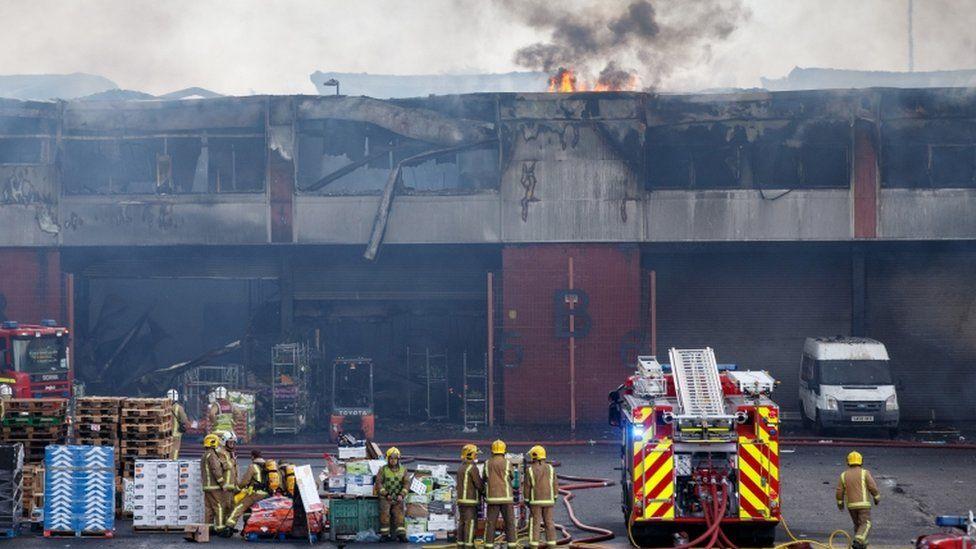 Glasgow fruit market fire