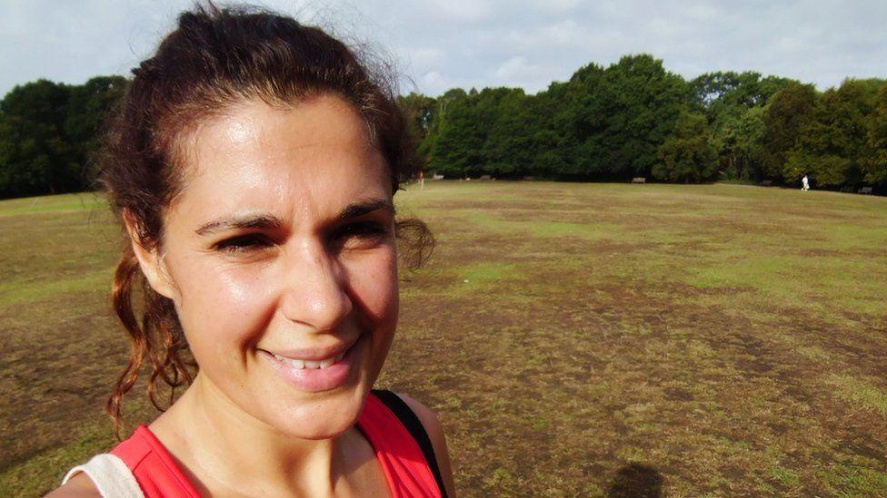 Lisa Williams exercising