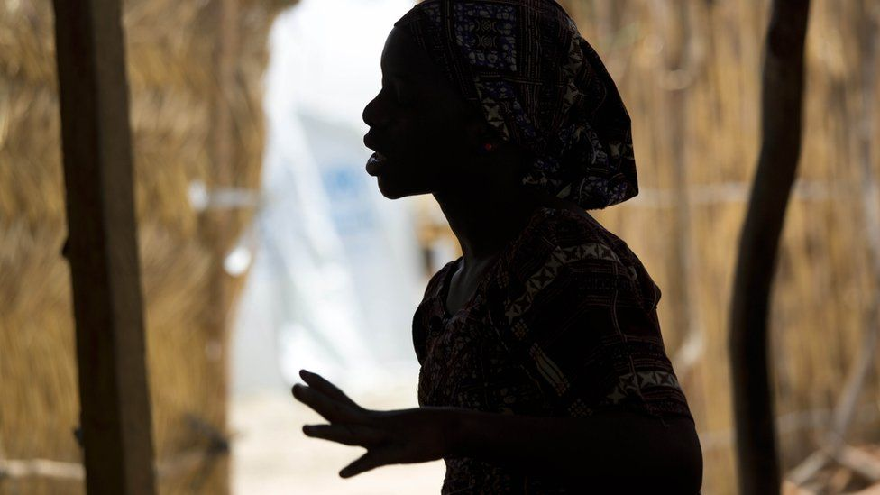 A 15-year-old Nigerian refugee at the Minawao refugee camp in northern Cameroon. She was abducted by Boko Haram and given to a man and forced to be his wife during her four months in captivity