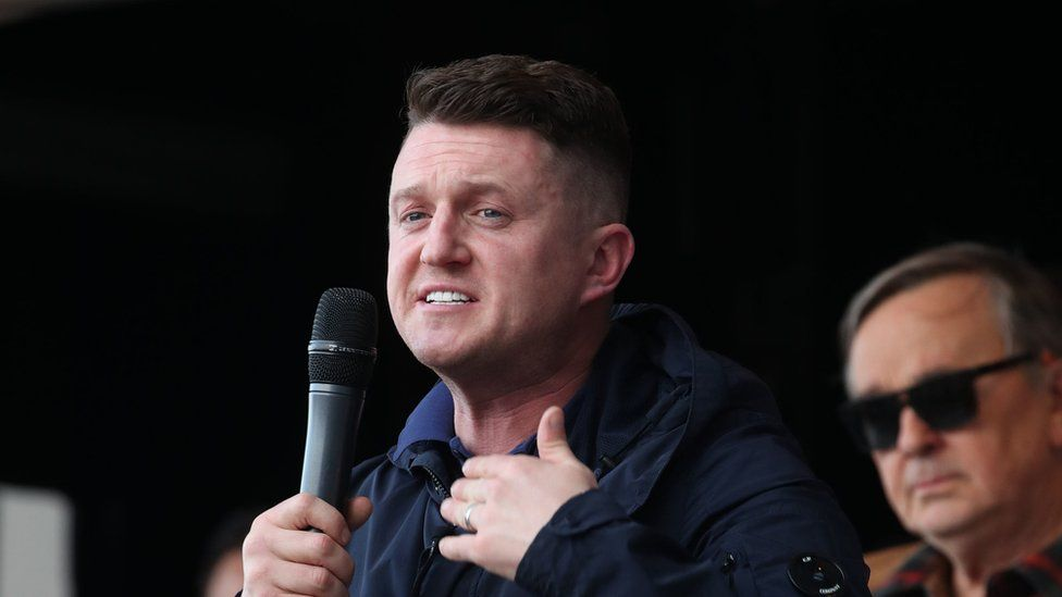 Tommy Robinson, whose real name is Stephen Yaxley-Lennon