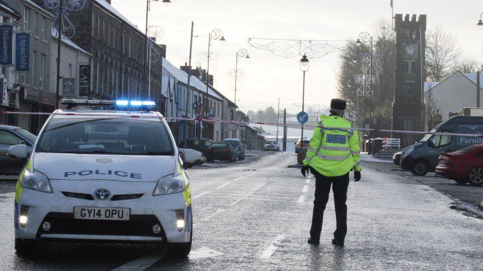 Police cordon in Garvagh