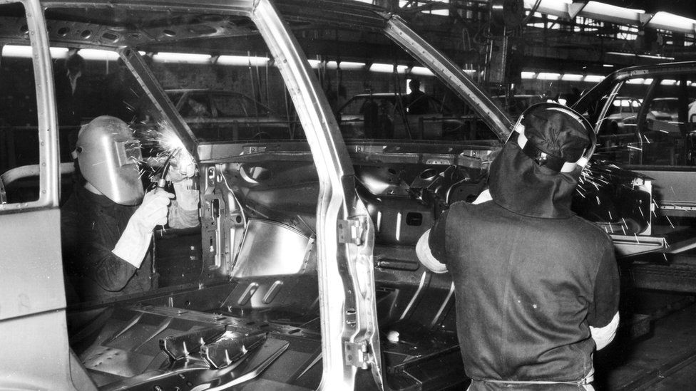 Chrysler Body Panels being made at Ryton 1976
