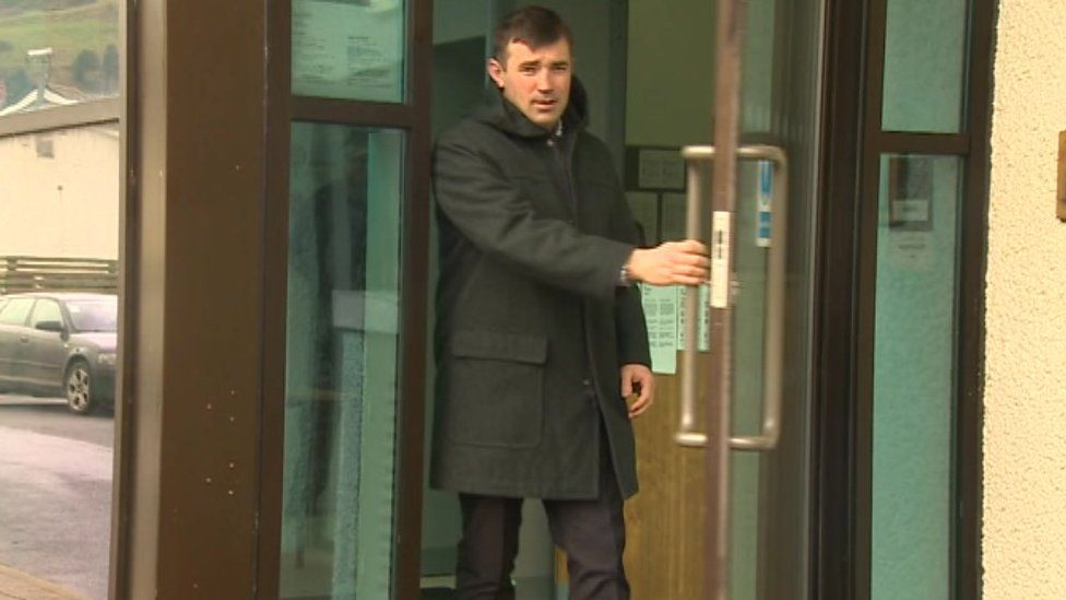 Steven Welsby, 40, outside Aberystwyth Magistrates Court