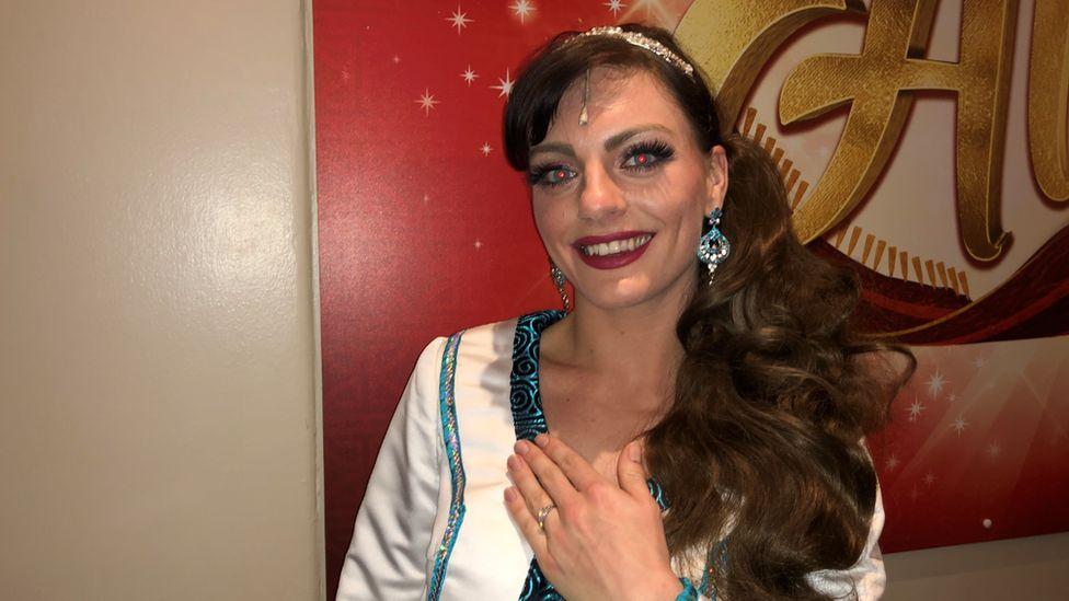 Natasha Lamb who is playing Princess Jasmine