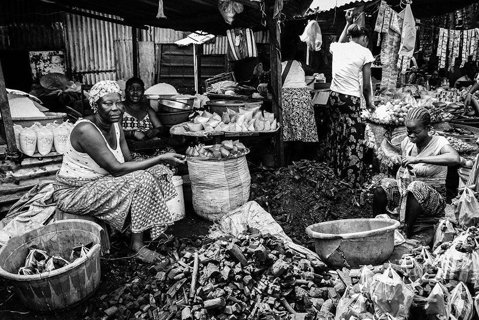A market in DR Congo's capital Kinshasa