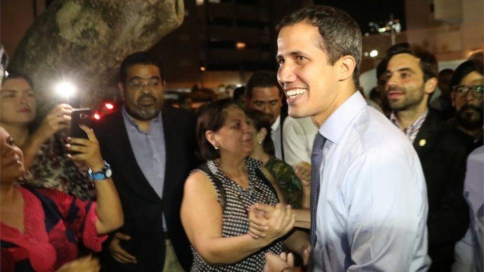 Opposition leader Juan Guaidó on 2 April