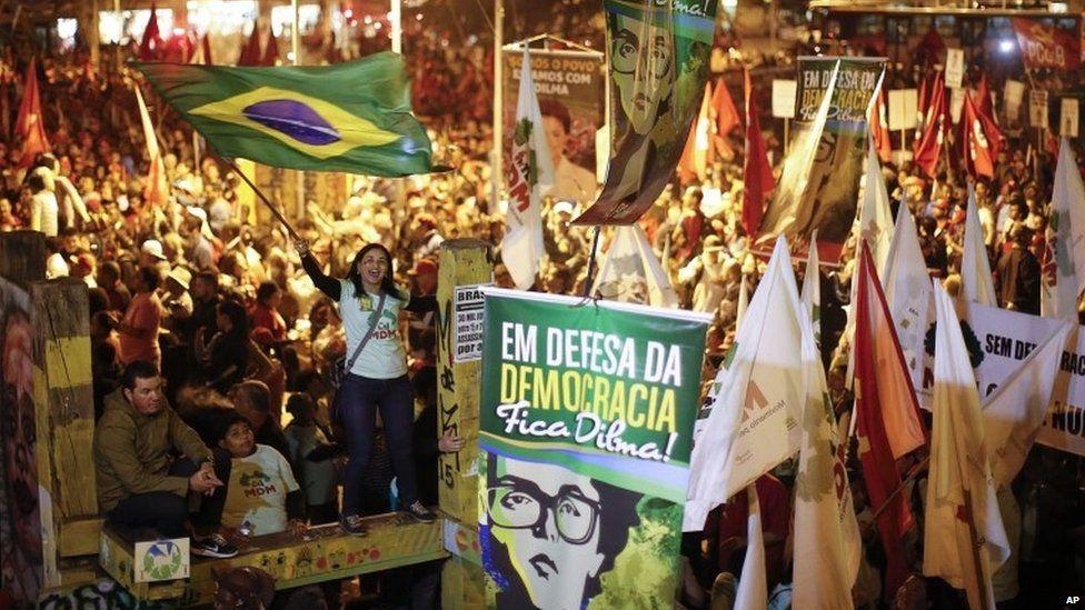 Pro-Rousseff demonstration in Sao Paulo