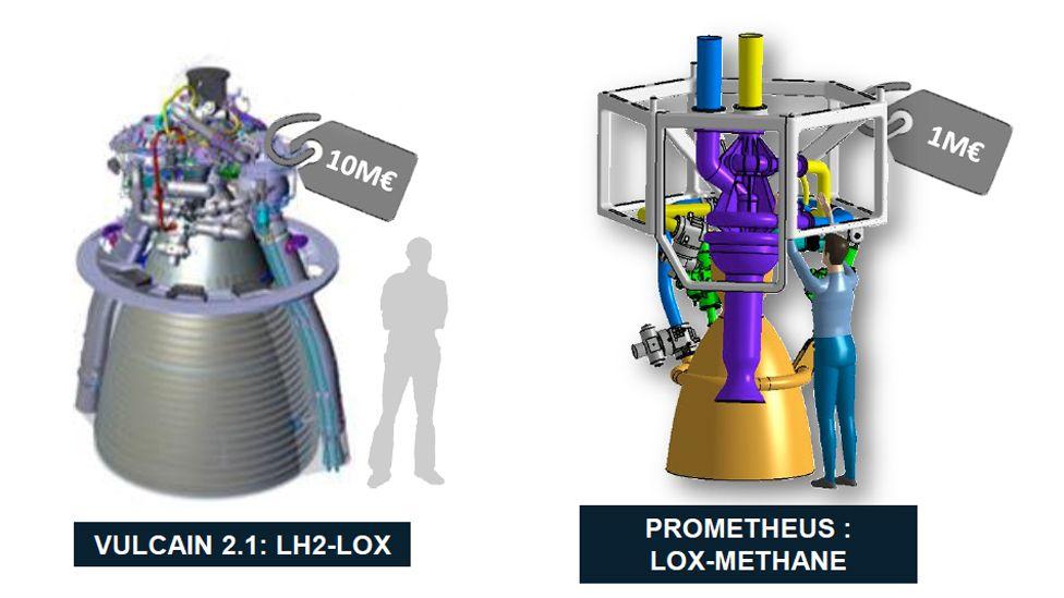 Prometheus engine versus Vulcain