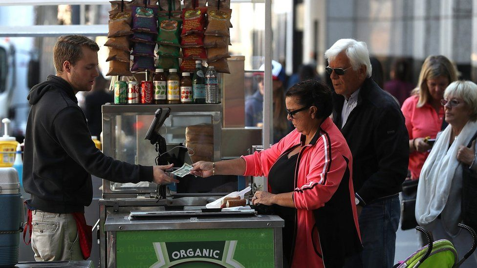 Stall vendor in the US