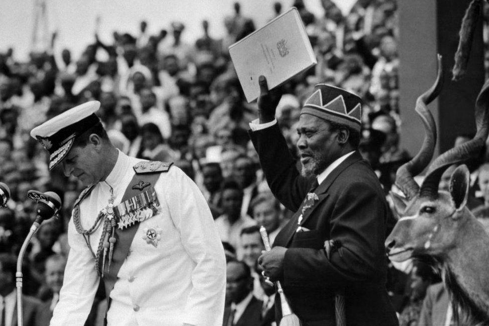 Jomo Kenyatta on independence day