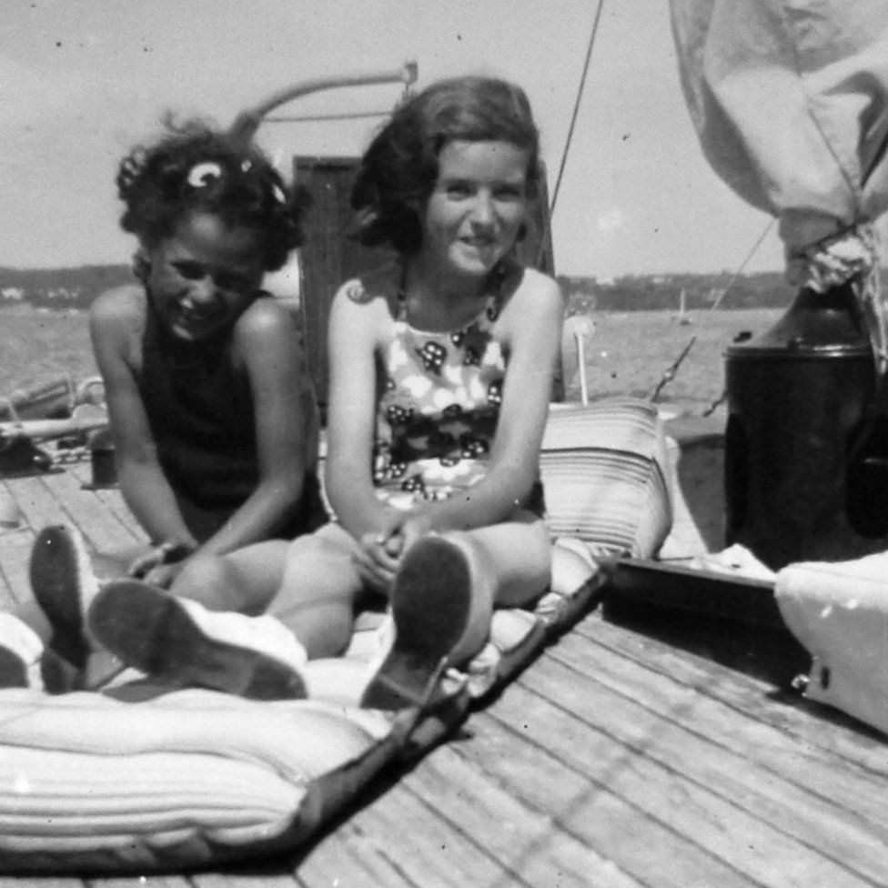 Carole Travers with a friend