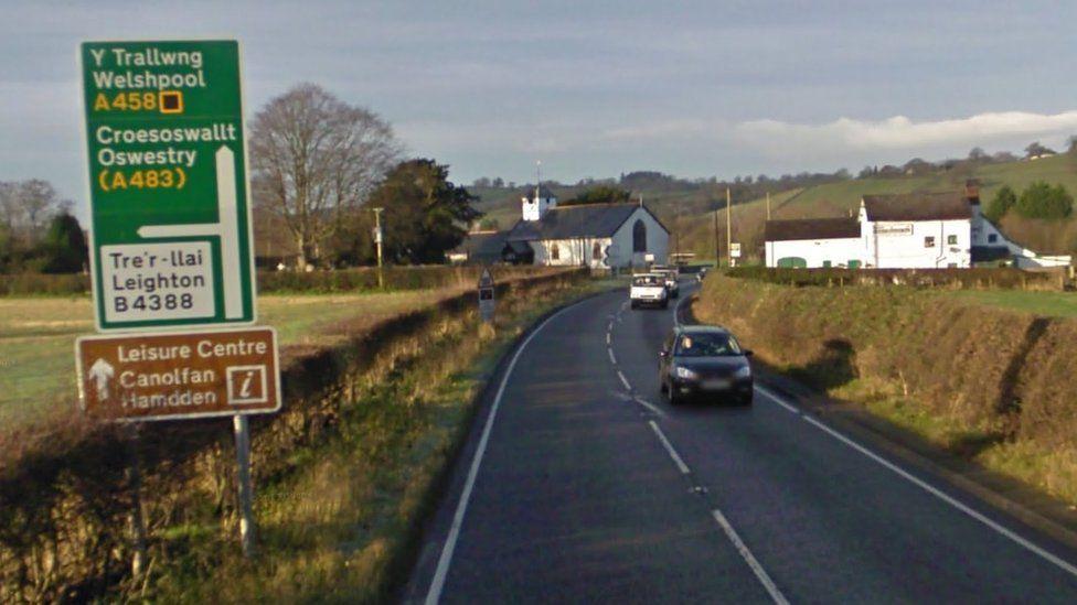 A458 road