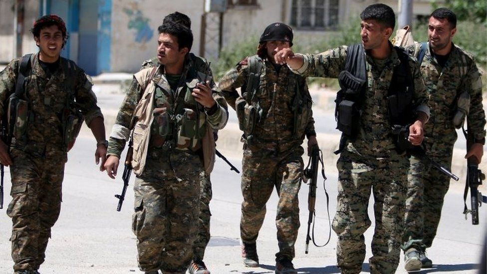 Kurdish fighters from the People's Protection Units (YPG) in Syria. File photo
