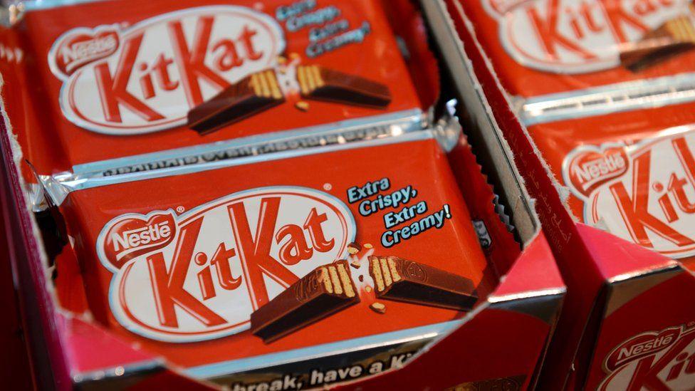 Close ups of KitKats
