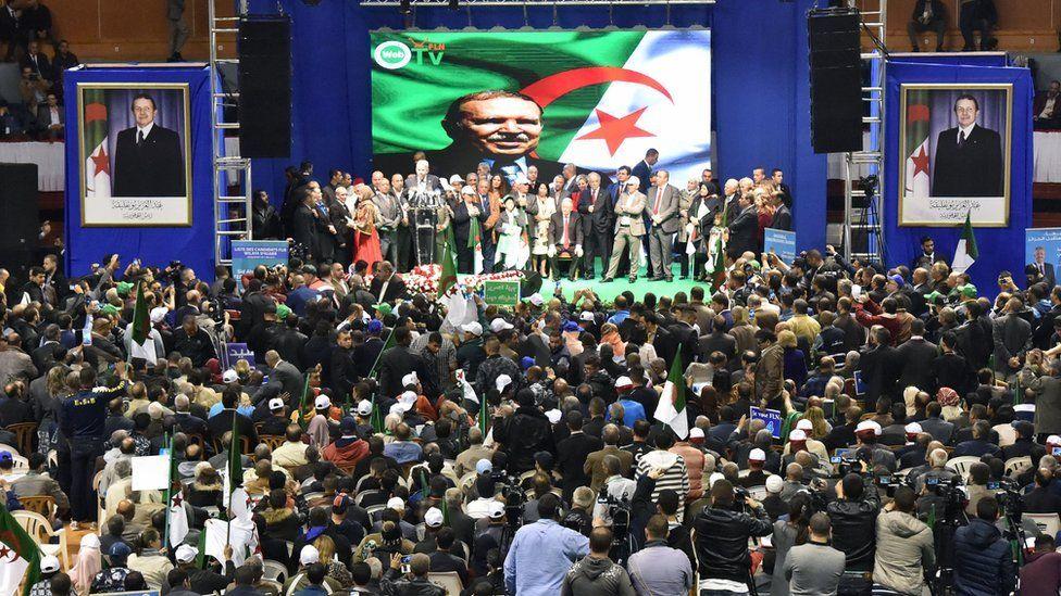 An FLN rally in Algiers