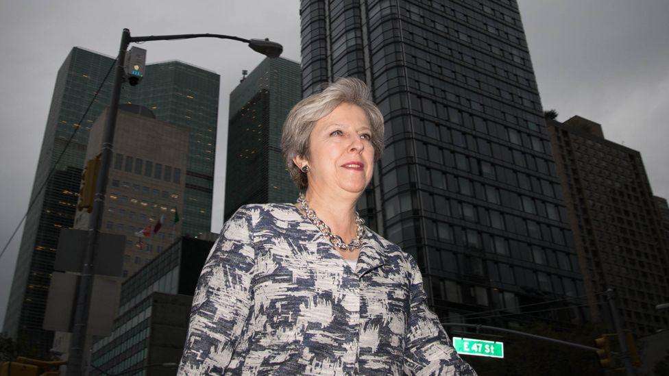 Theresa May in New York, 19 September