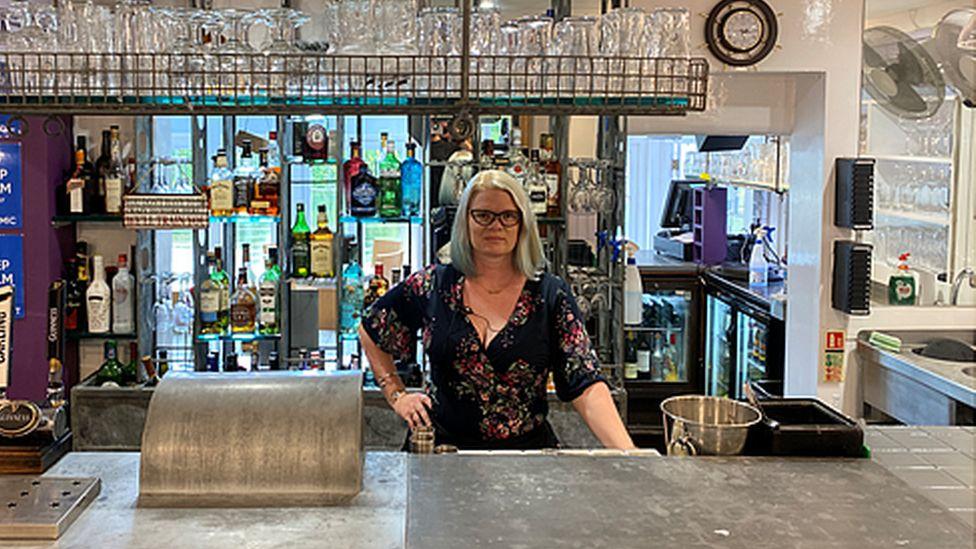 Pub-owner Caroline Roylance
