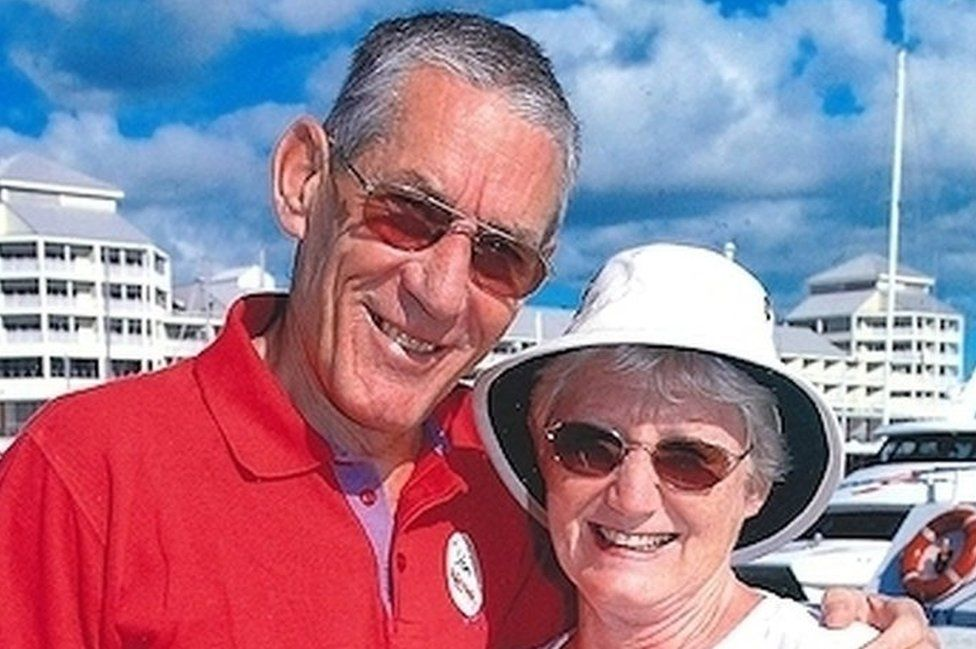 Donald Lock with his wife Maureen